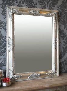 Spiegel Wandspiegel Antik Silber Barock Bonny 65 X 50 Cm Ebay