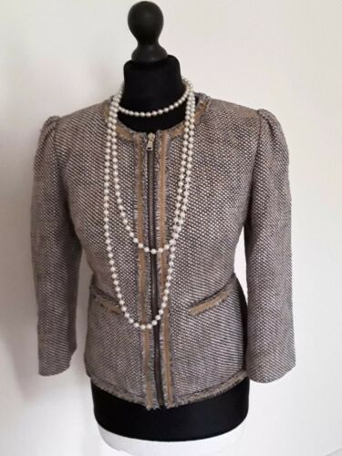14 Red Womens Jacket Valentino Size Tweed CXZg6q