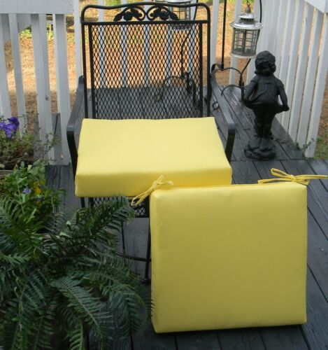 """Set of 2~19/""""X19/"""" Outdoor Universal Foam Chair Seat Cushion ~ Solid Colors"""