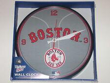 "Boston Red Sox 12"" Logo Round Wall Clock - Runs On One AA Battery"