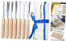 SCHAAF Full Size Wood Carving Tools for Beginners Hobbyists and Professionals Canvas Case Included Set of 7