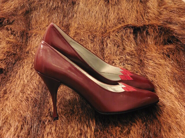 grande talon chaussure talon grande xavier dale tout cuir bordeaux millésime 80 nouveaux t.37.5 fea9a4