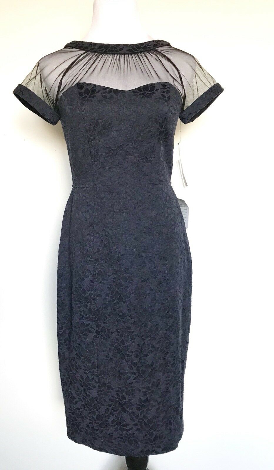 Maggy London bluee Net Top Dress. NWT Retail  148 Price  78 Size 6