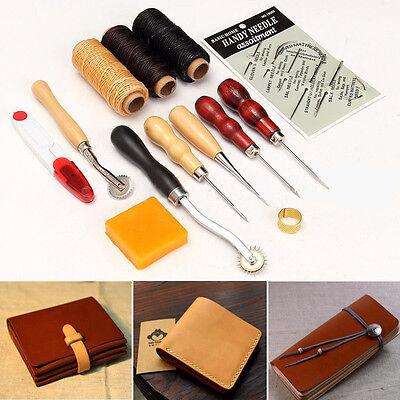 13x Leder Werkzeug Leather Stitching Craft Hand Sewing Stitching Awl Kit Set