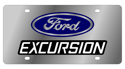 Ford Explorer Front License Plate Frame Logo on Mirror Stainless Steel