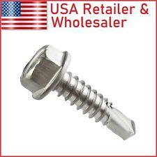 8 14 Hex Washer Head Self Tapping Sheet Metal Tek Screw 410 Stainless Steel