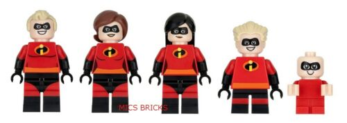 Mini Figures 5 Incredibles Mini Figure Lot LEGO The Incredibles