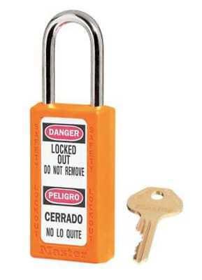 "Locks Other Locks Intelligent Master Lock 411orj Zenex Lockout Padlock,kd,orange,3""h Suitable For Men And Women Of All Ages In All Seasons"