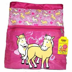 0b6c896c6776 Bugzz Kids Pink Pony School Girls Kit Bag Childrens   Childs ...