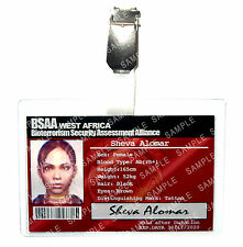 Resident Evil Sheva Alomar ID Badge BSAA Zombie Cosplay Costume Prop Comic Con