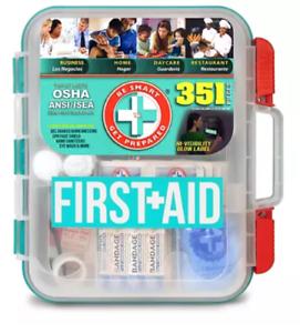 NEW 351 pc Emergency First Aid Kit Workplace OSHA ANSI FREE FAST SHIPPING