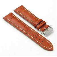 Dassari Concord Leather Watch Band Croc Strap In Tan Breitling Navitimer World