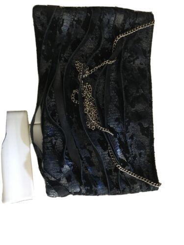 POSSE Black Leather  Hobo shoulder Bag New York