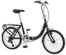 """Schwinn 20"""" Unisex  Loop Folding Bike Bicycle - Black"""