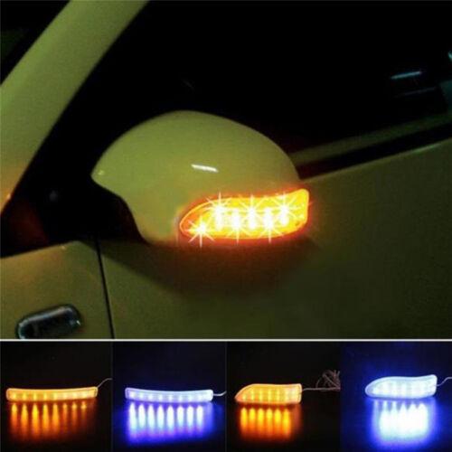 Auto Side Indicator Mirror Lamp Car Turn Soft Signal LED Light WaterproofXBZN