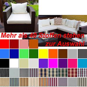 gartenm bel auflagen polster sitzkissen rattan lounge stuhl auf ma stegsaum ebay. Black Bedroom Furniture Sets. Home Design Ideas