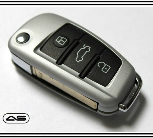Silber Schlüssel Schutzhülle für Audi Schutz S LINE Sport 8P 8PA B7 8E C6 MK2 28