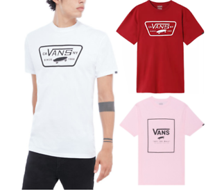 Mens Vans T Shirt White Red Pink Off The wall Star Cotton Genuine UK Stock