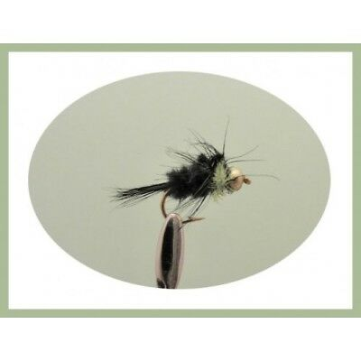Mixed 10//12 12 Pack Goldhead long Shank Green Montana Montana Trout Flies