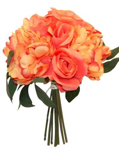 Artificial Peony Rose Bouquets Bridal Silk Wedding Flowers Centerpiece Peonies
