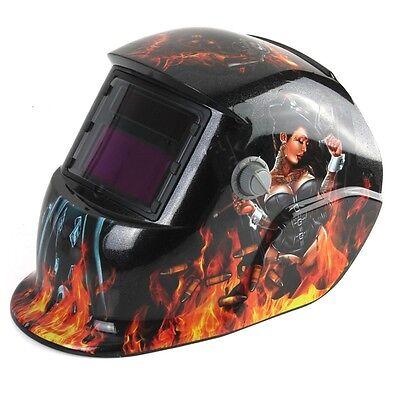 Sexy Pattern Solar Pro Auto Darken Welding Helmet  Tig Mig Mask Grinding Welder