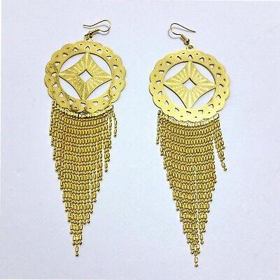 Ohrringe Ohrschmuck Bollywood Stil Goldfarbig 13cm Noch Nicht VulgäR