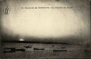Dschibuti-Djibouti-Jabuuti-Ostafrika-Afrika-Africa-1910-Sonnenuntergang-Soleil