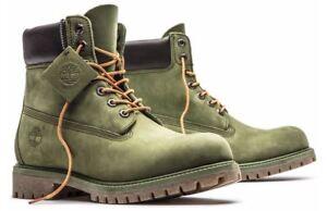 fc2d55e466e Timberland Men s Premium 6 inch Classic Leather Boots Medium   Olive ...