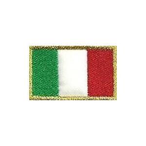 Patch-BANDIERINA-ITALIA-bordo-oro-cm-2-5-x-1-5-toppa-ricamo-termoadesiva-343