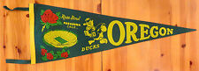 DISNEY/DONALD DUCK/UNIQUE! 1958 ROSE BOWL OREGON/OHIO STATE FOOTBALL PENNANT