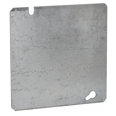 "NEW LOT RACO 8753 METAL 4/"" BLANK FLAT /& K//O ELECTRICAL BOX COVERS 6151385 10"