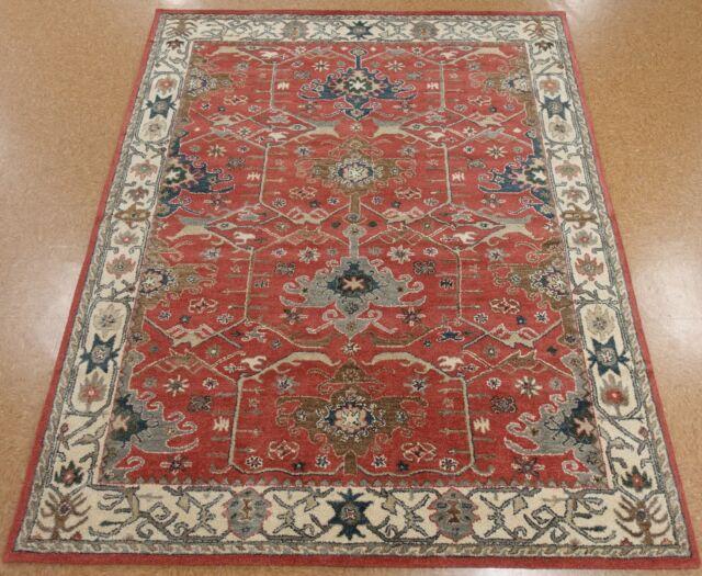 Hand-tufted Caspian Burgundy Wool Rug