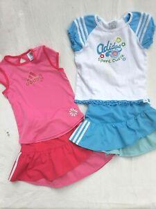 Autonomía Bebé marca  Tenis Adidas Chicas Talla 6X 2 piezas conjunto traje Camiseta Falda Faldas    eBay