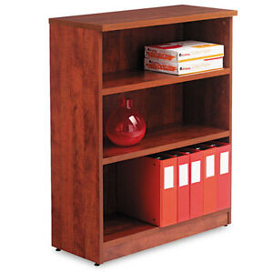 Alera Valencia Series Bookcase/stora<wbr/>ge Cabinet 3 Shelves 32 W by 14 1/2 D by