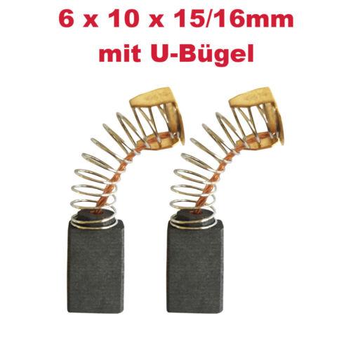 2x schleifkohle Brosse à Charbon 6x10x15//16mm pour Makita angle meuleuse 9005b ga5000
