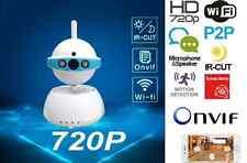 TELECAMERA IP CAMERA HD 720P WIRELESS LED IR LAN MOTORIZZATA RETE WIFI