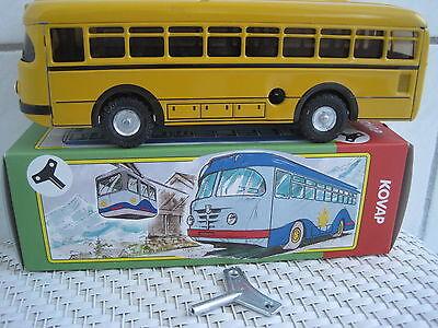Blechspielzeug Analytisch Blechspielzeug Ommibus Bus Büssing 1959 Gelb Aufziehmotor Aus Blech 1:43 Einen Effekt In Richtung Klare Sicht Erzeugen