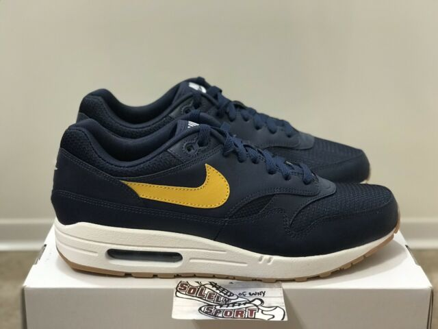 New Nike ID Air Max 1 Blue Yellow Running Shoes By You Vapormax Mens Size 11