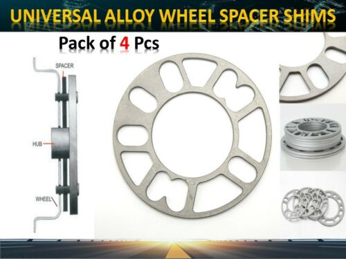 3mm ALL Vehicle Wheel Shims Universal Cars Spacer 4/&5 Stud Fiting *98mm-120mm*