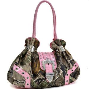 New-Realtree-Women-Handbag-Faux-Camouflage-Leather-Shoulder-Bag-Satchel-Purse