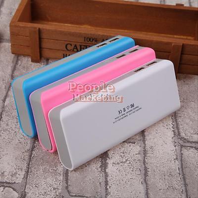 15000mAh Dual USB Power Bank Case Kit 5X 18650 Battery Charger DIY Box For Phone