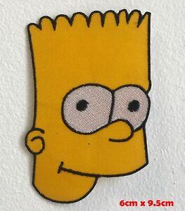 Simpson-Visage-Bande-Dessinee-Animation-Brode-Repasser-Patch-a-Coudre-1612