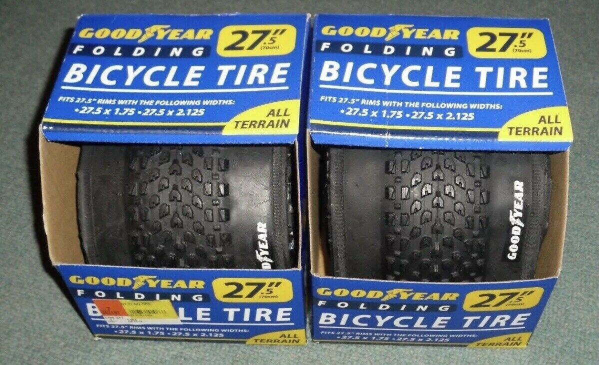 Goodyear Folding Bicycle Tires All Terrain 27.5  x 1.75 27.5  x 2.125 Lot of (2)