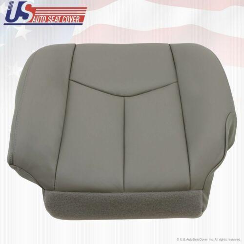 2006 2007 GMC Sierra Driver Side Bottom Vinyl Seat Cover Plus Foam Cushion GRAY