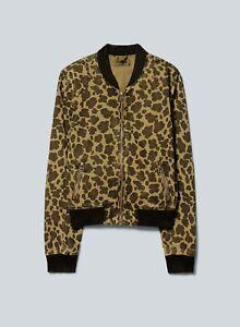 Aritzia Leopard/Camo Bomber Jacket Xxs by Aritzia   Talula Label