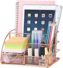 Desk Organizer Cute Mesh Office Supplies Accessories Essentials Caddy