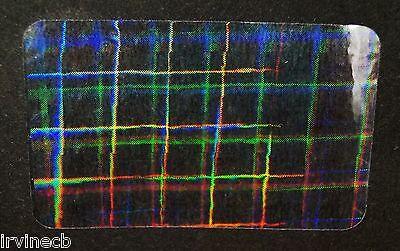 Hologram Plaid Overlays Inkjet Teslin ID Cards - Lot of 5