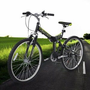 New 26 Folding 6 Speed Mountain Bike Bicycle Shimano School Sport