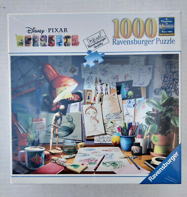 Ravensburger Disney Pixar The Artist/'s Desk Jigsaw Puzzle 1000 Piece New Sealed