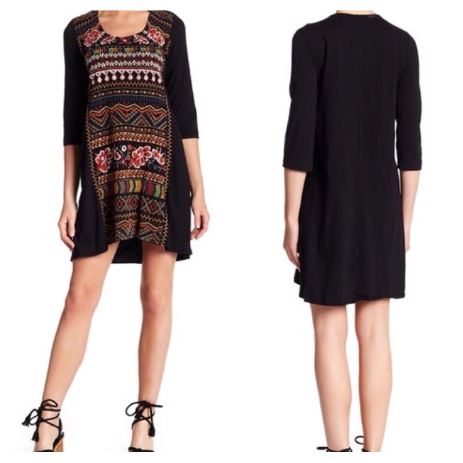 NWT Johnny Was Waleska Embroidered Mini Dress Tunic M M M New 6a372f